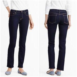 J. Crew Perfect Stretch Dark Wash Straight Jeans